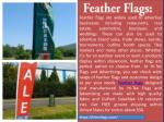 feather flags are widely used to advertise
