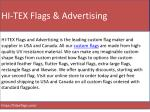 hi tex flags advertising
