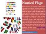 nautical flags are used to communicate messages