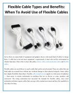 flexible cable types and benefits when to avoid