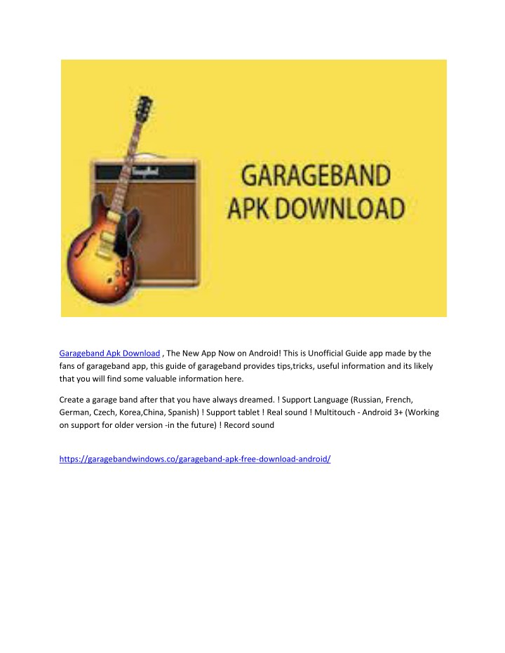 garageband apk download n.