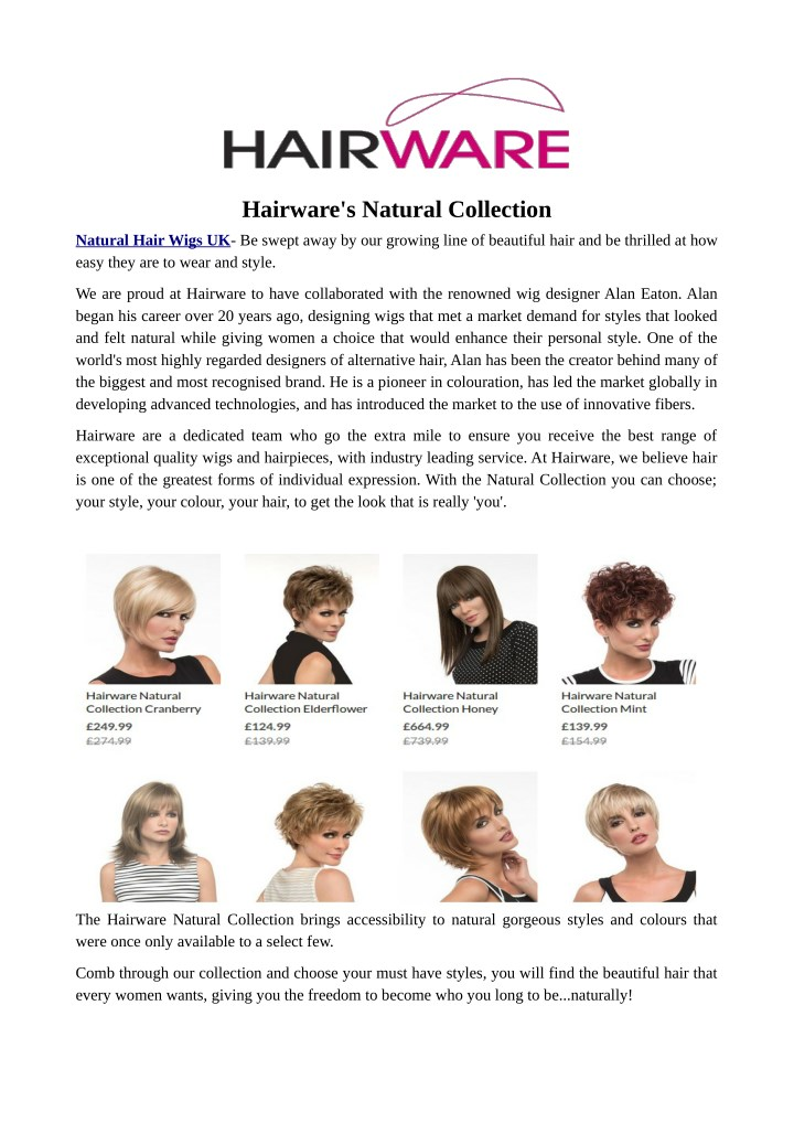 hairware s natural collection n.