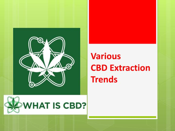 various cbd extraction trends n.