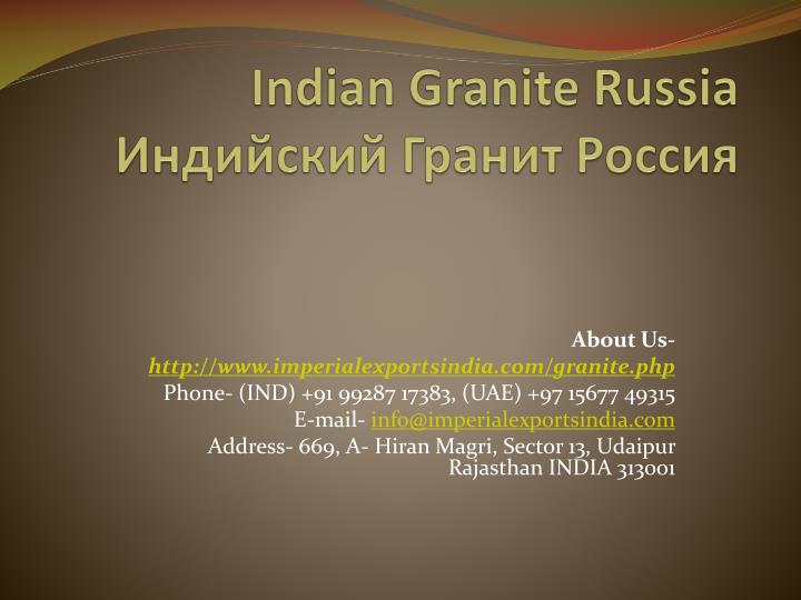 indian granite russia n.