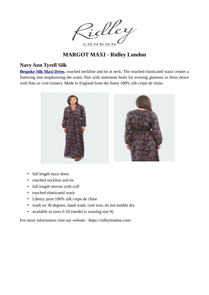 margot maxi ridley london n.