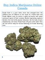 buy indica marijuana online canada