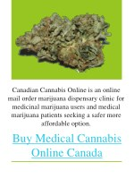 canadian cannabis online is an online mail order