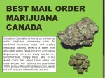 best mail order marijuana canada