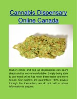 cannabis dispensary online canada