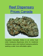 reef dispensary prices canada