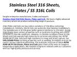 stainless steel 316 sheets plates ss 316l coils