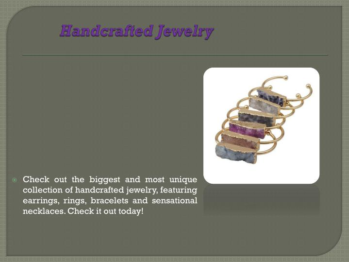 handcrafted jewelry n.