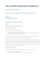 busn 100 entire course basics of business apu