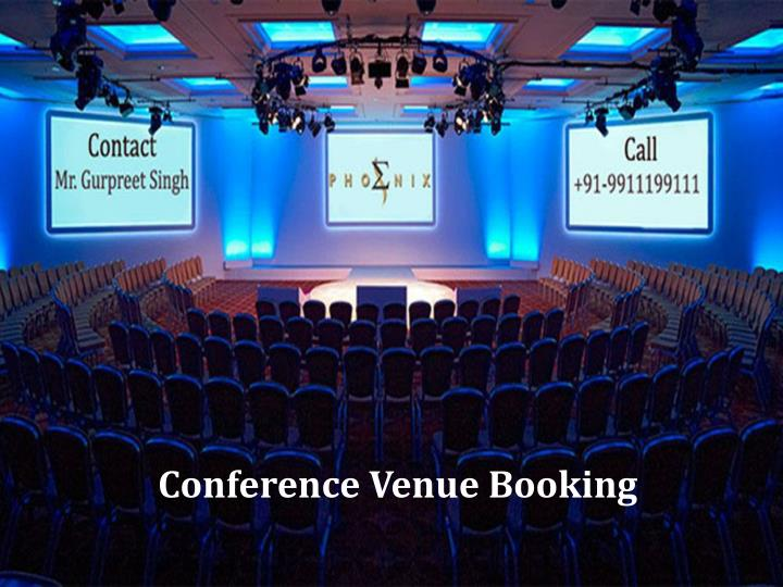 conference venue booking n.