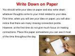 write down on paper