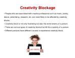 creativity blockage