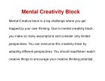 mental creativity block