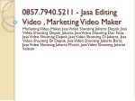0857 7940 5211 jasa editing video marketing video