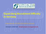 expats bang recruitment difficulty in germany
