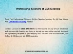 professional cleaners at gsr cleaning 1