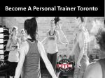 become a personal trainer toronto