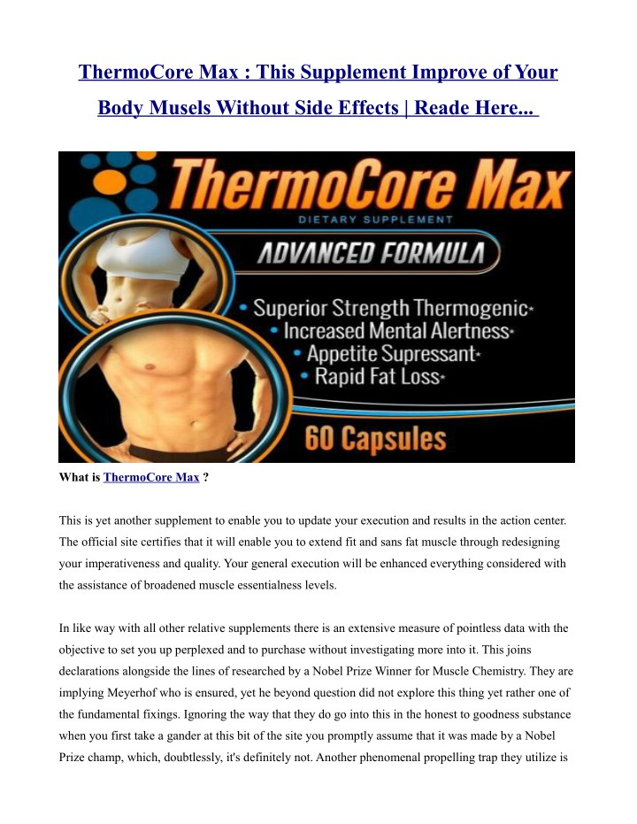 thermocore max this supplement improve of your n.