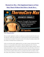 thermocore max this supplement improve of your