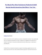 pro muscle plus more testosterone production build