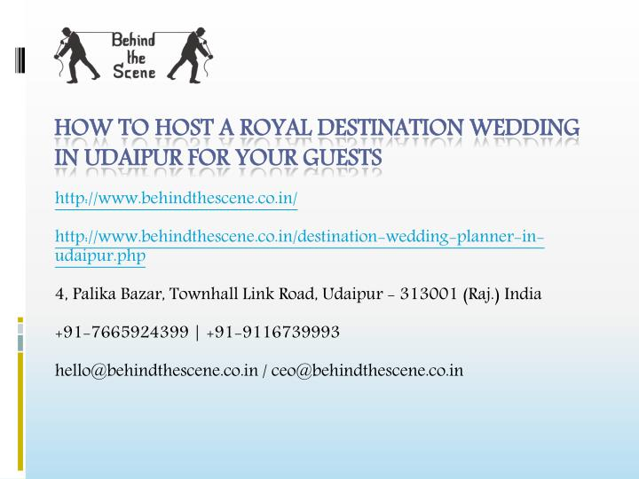 how to host a royal destination wedding in udaipur for your guests n.