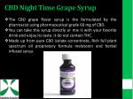 cbd night time grape syrup