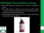 cbd night time strawberry syrup