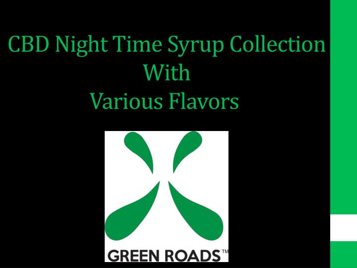 cbd night time syrup collection with various flavors n.