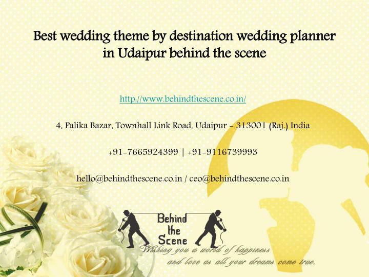 best wedding theme by destination wedding planner in udaipur behind the scene n.