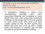 full guide to plan best destination wedding by behind the scene http www behindthescene co in 1