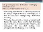 full guide to plan best destination wedding by behind the scene http www behindthescene co in 3
