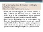 full guide to plan best destination wedding by behind the scene http www behindthescene co in 4