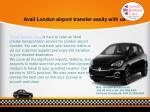 avail london airport transfer easily with us