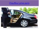 chauffeur prive paris