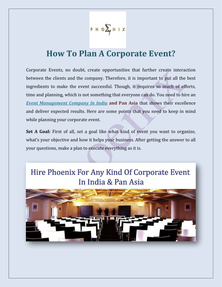 how to plan a corporate event n.