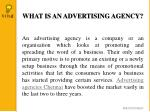 what is an advertising agency