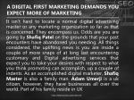 a digital first marketing demands you expect more of marketing