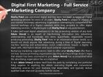 digital first marketing full service marketing company