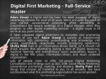 digital first marketing full service master