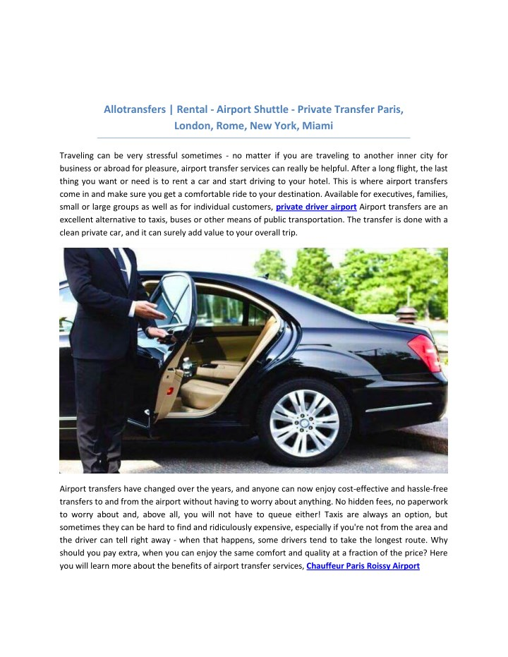 allotransfers rental airport shuttle private n.