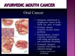 ayurvedic mouth cancer