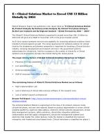 e clinical solutions market to exceed