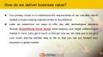 how do we deliver business value