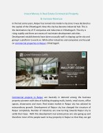 invest money in real estate commercial property
