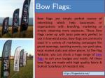 bow flags