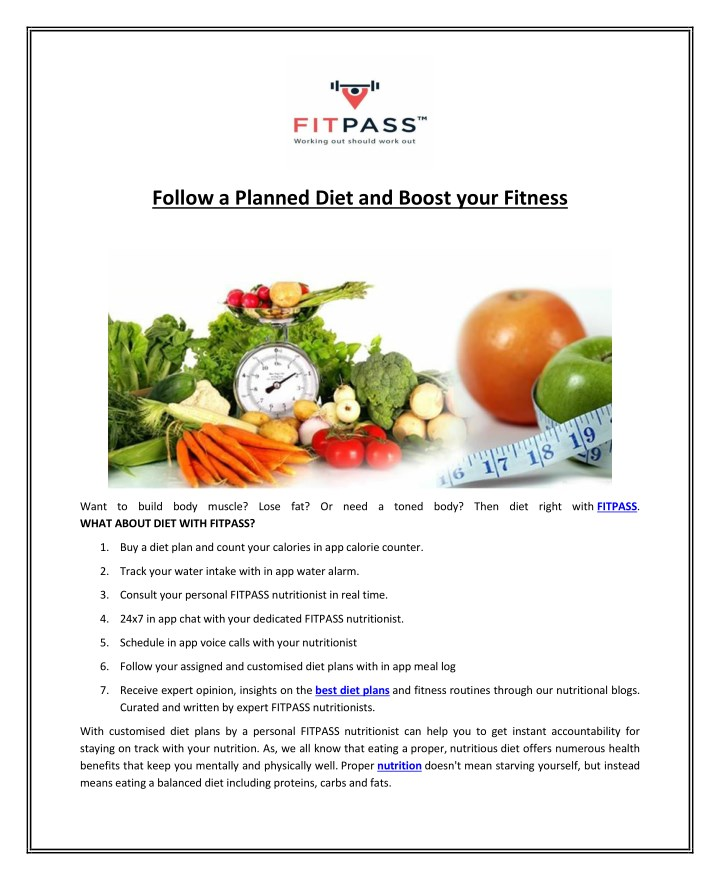 follow a planned diet and boost your fitness n.